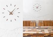 Минимализм в настенных часах Nomon Sunset Wall Clock,  Walnut